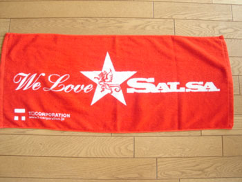 We Love Salsa タオル